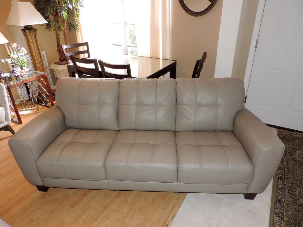 Prime Macys Kaleb Taupe Leather Tufted Sofa Short Links Chair Design For Home Short Linksinfo
