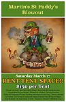 St. Paddy's Day Tent Rental - Rent Tent Space at Martin's Restaurant & Bar during the St. Paddy's Day Parade in downtown Jackson! By purchasing this item, buyer agrees to all terms set forth by Martin's Restaurant & Bar.