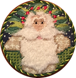 March 2018 Ornament Kit Exclusive Diversions Needlepoint hand painted canvas, threads and stitch guide by Mary Lou Kidder. SHIPPING INCLUDED!
