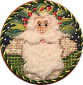March 2018 Ornament Kit - Exclusive Diversions Needlepoint hand painted canvas, threads and stitch guide by Mary Lou Kidder. SHIPPING INCLUDED!