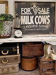 For Sale Milk Cows - My inspiration for this sign was, of course a real vintage farm sign I thought it needed to be hanging on a modern farmhouse adding a vintage nostalgic vibe. How much is a cow these days?