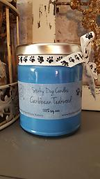 Caribbean Teakwood Bold blends of leather, tobacco, amber, musk, black tea, aged teakwood, patchouli and sandalwood. Color: Bright Blue Size: 9 oz. jar. 100% SOY WAX