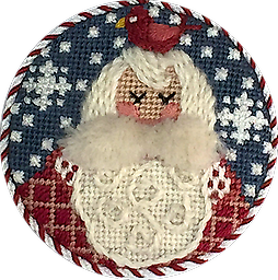 April 2018 Ornament Kit Exclusive Diversions Needlepoint hand painted canvas, threads and stitch guide by Mary Lou Kidder. SHIPPING INCLUDED!