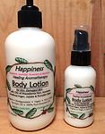 HAPPINESS Healing Body Lotion - for Dry, Damaged Skin with Essential Oils of Grapefruit, Lavender, Rosemary & Patchouli & Oils of Macadamia Nut, Avocado, Unrefined Argan, Jojoba & Pumpkin Seed-Organic- Biodegradable- Vegan- Non GMO