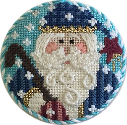 May 2018 Ornament Kit Exclusive Diversions Needlepoint hand painted canvas, threads and stitch guide by Mary Lou Kidder. SHIPPING INCLUDED!