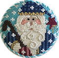 May 2018 Ornament Kit - Exclusive Diversions Needlepoint hand painted canvas, threads and stitch guide by Mary Lou Kidder. SHIPPING INCLUDED!