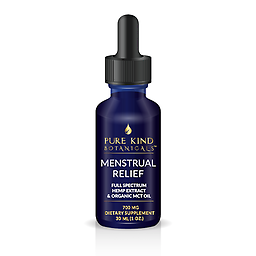 Menstrual Relief 700mg Hemp extract and herb-infused MCT and Sacha Inchi Oil 23.33mg/ml 1-oz (30 ml) dropper bottle