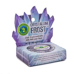 500mg Crystalline Frost Pure Hemp CBD Concentrate Crystals Tested at 98%+ purity, Frost Pure CBD Crystals are the purest form of hemp extract currently on the market. Available in a 500mg package.