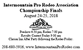 TICKETS-ImPRA Championship Finals Admission Ticket - Pre-purchase Tickets to the Intermountain Championship Finals Rodeo Adult =$10 Children 6+=$5 Family Pass=$30 (reasonable family size) Weekend Pass for Family= $40 (reasonable family size)