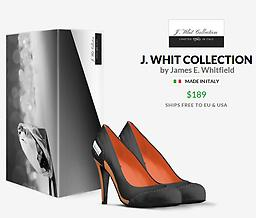 """Women Classic E.O.R.N. Stilletto Heels Classy Black and Orange Leather 5"""" inch Stiletto Heels with EORN Tag on heel. With Initials Branded into sole of leather. (Made in Milan, Italy)"""