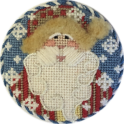 June 2018 Ornament Exclusive Diversions Needlepoint hand painted canvas, threads and stitch guide by Mary Lou Kidder. SHIPPING INCLUDED!