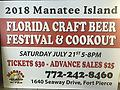 Advance Sale Beer Festival Tickets - Advanced $25 pp. Tickets to the Manatee Island MI florida Craft Beer Fest and Barbecue,