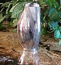 """Twisted Vase SOLD - 10"""" tallTwisted Stainless Steel Vase"""