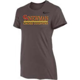 CN Cross Country Women's Short Sleeve Grey Tee Nike Women's Short Sleeve Dri-Fit Legend Tee with 2-color front logo