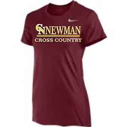 CN Cross Country Women's Short Sleeve Cardinal Tee Nike Women's Short Sleeve Dri-Fit Legend Tee with 2-color front logo