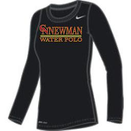 CN Water Polo Women's Black Long Sleeve Tee Nike Women's Long Sleeve Dri-Fit Legend Tee with 2-color front logo