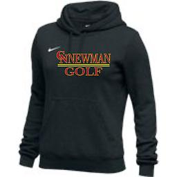 CN Golf Women's Black Club Fleece Hoodie Nike Women's Club Fleece Hoodie with 2-color front logo This product runs a full size small. We recommend you order one size larger then normal.