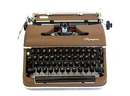 Olympia SM3 (Brown) Collectible Portable Typewriter