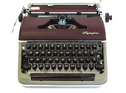 Olympia SM3 (Mar/Gry) Collectible Portable Typewriter