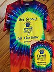 """I Got Stoned"" Adult T-Shirt - 100% Cotton Adult Tie-Dye T-Shirt"