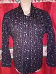 Wrangler Men's Western Shirt - Wrangler American Cowboys Western Shirt size large, beautiful multi color red, blue, yellow floral pattern. Pearl snaps.