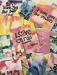 Love Cards - Christalene's handwritten Love Cards are a great way to let your loved one know you care when you're not there! Packaged in an organza bag.