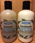 MEDIC Dandruff Shampoo & Conditioner - for Dandruff, Hair Loss, Eczema, Itchy/Dry Scalp -- Organic Oils of Jojoba, Olive & Neem -- Organic - Biodegradable - Vegan - Non GMO -