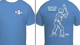 K5L Tshirt Kyle's Memorial K5L tshirt - and the cool picture of him on the back was sketched on a computer by his sister from a picture of him at his last tournament.