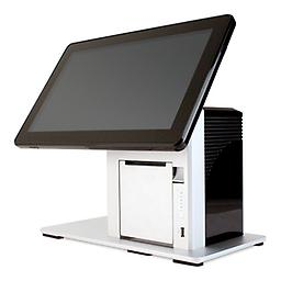 """ION TP5 PRO POS-X ION TP-5 Series w/ a 15"""" touchscreen is sleek w/ a built in thermal printer. Great for businesses that have limited space, it's steel design is great for restaurants, food trucks and stadiums."""