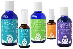 100mg Nature's Root Sore Muscle Body Oil 1 oz. 1oz travel size contains 100mg of Cannabidiols. Key Ingredients: Organic Hemp Seed Oil, Non-GMO Cannabidiol Rich Hemp Oil, Organic Eucalyptus | Lavender | Sweet Orange | Camphoroils