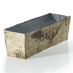 Birch Bark Planter with Zinc Liner Perfect container for long and low natural centerpieces.