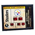 Steelers Bluetooth Wall Clock - Celebrate game day with this Pittsburgh Steelers ticket-stub themed wall clock and Bluetooth speaker.