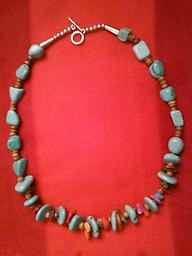 A TURQUOISE NECKLACE FOR YOU Turquoise Southwest style necklace, 20 inches long, accented with multi colored gems