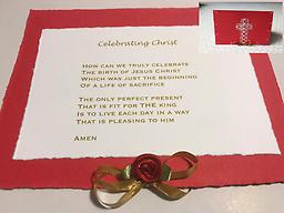 "00 - Christmas - red ""Celebrating Christ"" -- Optional: Leave a personal message in ""Note to Seller"" section at checkout!"