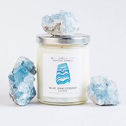 Blue Chalcedony Candle - Calming | 9 oz Blue Chalcedony Candle - Calming | 9 oz