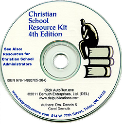Christian School Resource Kit 4th Edition This Resource Kit contains 800 documents referenced in the book, Christian Schools: How to Get a School Going and Keep it Growing.
