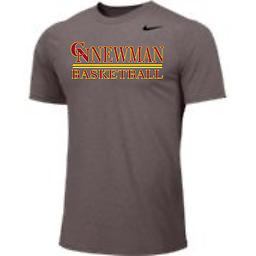 CN Basketball Men's Short Sleeve Grey Nike Tee Nike Men's Dri-Fit Short Sleeve Legend Tee with 2-color front logo