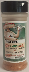 UNCLE BOB'S - Chili Margarita 5 oz. Chili Margarita, is a refreshing blend of honey, lime, and chili peppers. It works well on pork, chicken, seafood, and especially on salmon.