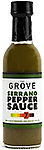 THE GROVE - Serrano Pepper Hot Sauce 5 oz. - Serrano peppers are perfect for salsas, sauces, relishes, garnishes, and more. Where a jalapeño has a nice bite to it, the Serrano steps it up to a nice level of around 7.