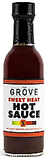 THE GROVE - Sweet Heat Hot Sauce 5 oz. Sweet Heat is a combination of Habaneros, Birds Eye Peppers and Ginger. It has an initial sweet taste with a heat that likes to linger. The scoville units are high on these peppers but on this recipe.