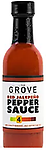 THE GROVE - Red Jalapeno Pepper Hot Sauce 5 oz. - A Red Ripened Jalapeño is the same pepper as a green jalapeño that is left on the vine longer to get a fully ripened jalapeño. They are slightly sweeter than the green jalapeño and have a notably hott