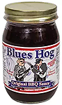 "BLUES HOG - Original BBQ Sauce 16 oz. - A thick, gourmet sauce made from all-natural ingredients that ""sticks to your meat"" and has a ""sweet with the right amount of heat"" attitude!"