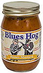 BLUES HOG - Honey Mustard Sauce 16 oz. - A thick, golden gourmet sauce that combines the sweet taste of honey with the zesty taste of prepared mustard.