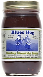 BLUES HOG - Smokey Mountain Sauce 16 oz. Blues Hog Smokey Mountain Sauce is a unique grilling/finishing sauce that combines the rich blend of high quality ingredients found in Blues Hog Original with the added depth of natural hickory smoke.