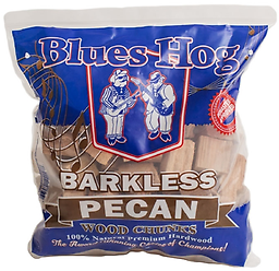 "BLUES HOG - Barkless Pecan Wood Chunks 300 cu in. From the ""Award-Winning, Choice of Champions"" comes our line of premium smoking wood chunks!"