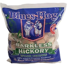 """BLUES HOG - Barkless Hickory Wood Chunks 300 cu in. From the """"Award-Winning, Choice of Champions"""" comes our line of premium smoking wood chunks!"""