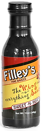 FILLEY'S FINE SAUCES - Sweet N Heat 12 oz. Not everyone can handle the traditional hot wing sauce. Sweet -n- Heat was created with those individuals in mind.