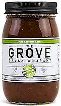 THE GROVE - Cilantro Lime Salsa 16 oz. Our award-winning salsa launched in 2015 and quickly became our best-selling, featuring the freshness of cilantro and the tang of lime.