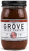 THE GROVE - Medium Salsa 16 oz. This middle-of-the-road chunky-style salsa tends to be a party crowd- pleaser with a fresh, flavorful appeal.