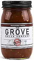 "THE GROVE - Habanero Salsa 16 oz. This is where it all started! Our first salsa inspiration was to create a very hot salsa with a fresh flavor. It was so good, our friends urged us to ""Jar it up! and Sell it!"""
